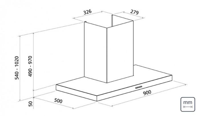 Coifa De Parede De 90  cm Em Aço Inox 110V 95800/003 Tramontina
