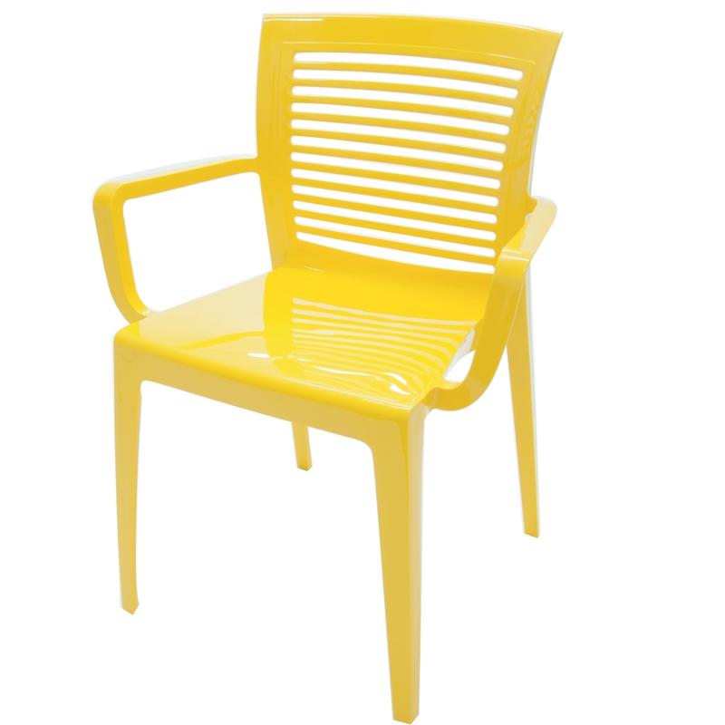 Cadeira Victória c/ Braço Amarela Tramontina 92042/000