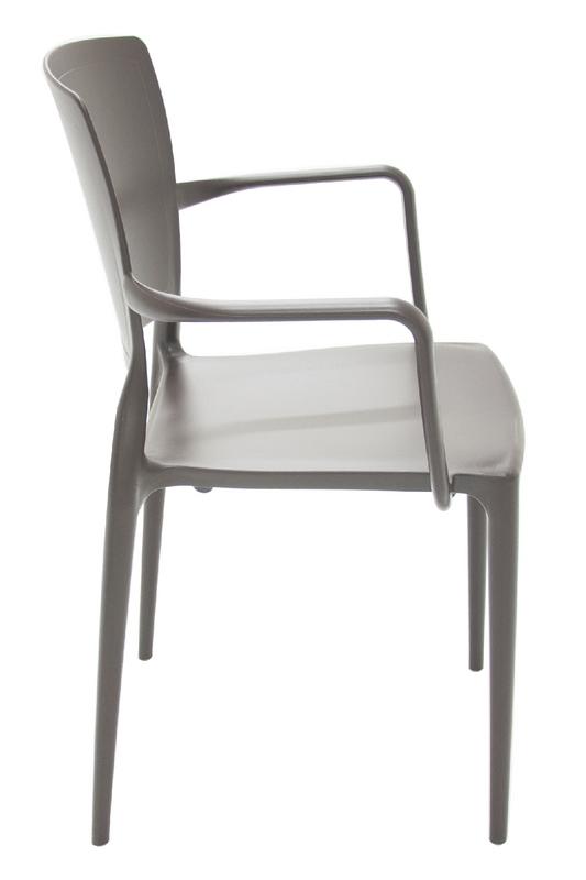 Cadeira Sofia Encosto Fechado c/ Braço Marrom 92039/109 Tramontina