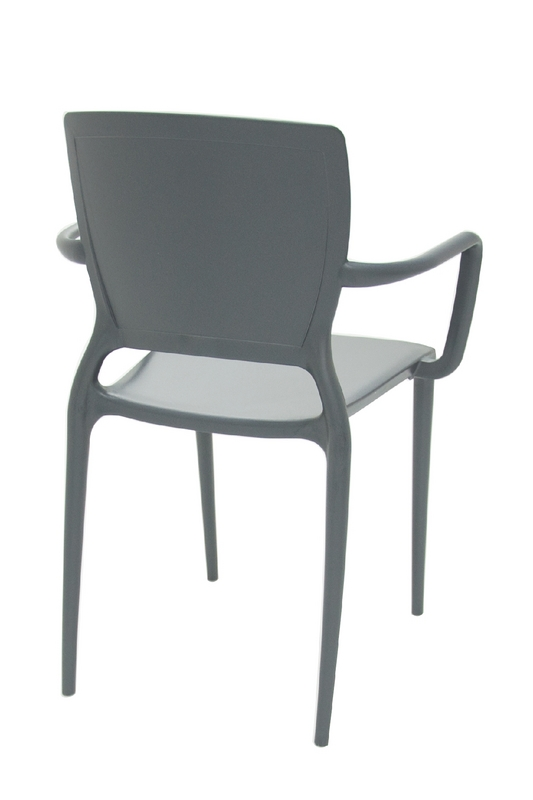 Cadeira Sofia Encosto Fechado Grafite C/ Braço 92039/007 Tramontina