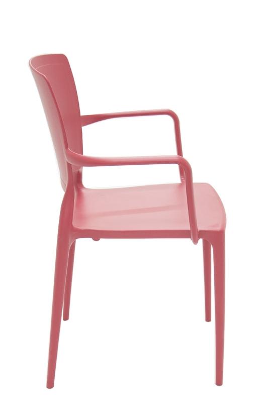 Cadeira Sofia Encosto Fechado Com Braço Vermelha 92039/040 Tramontina