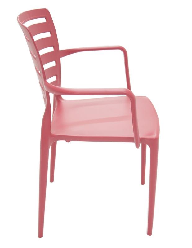 Cadeira Sofia Encosto Vazado Com Braço Vermelha 92036/040 Tramontina