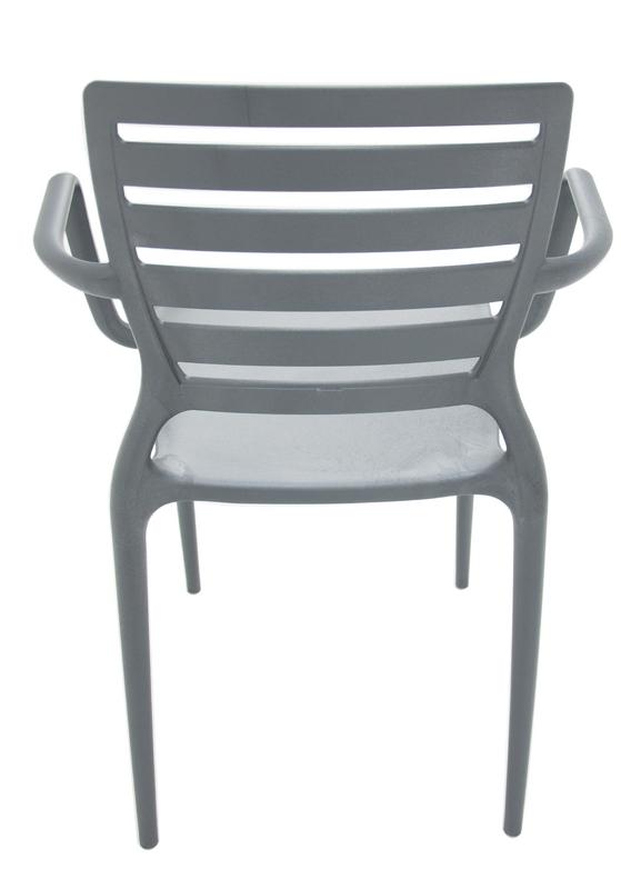 Cadeira Sofia Encosto Vazado Com Braço Grafite 92036/007 Tramontina