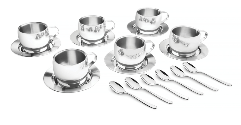 Jogo Aço Inox para Chá/Cappuccino 18 peças Tramontina 64430/820
