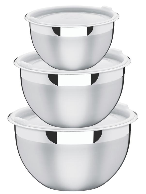 Jogo de Potes 3 Peças Cucina Aço Inox Tramontina 64220/710