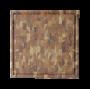 Tábua para Churrasco em Madeira Teca 37x37 cm