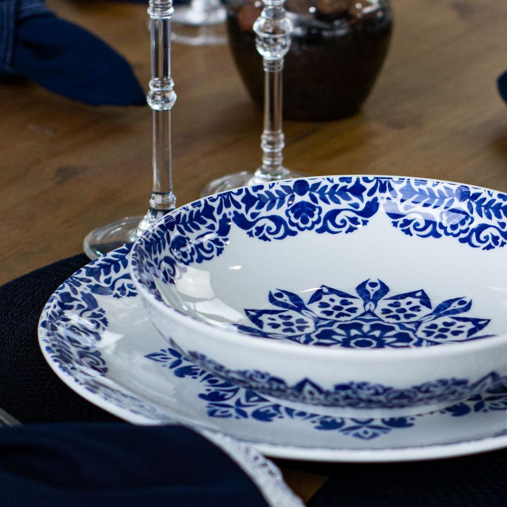 Aparelho de Jantar 30 Peças Coup Blue Indian Oxford