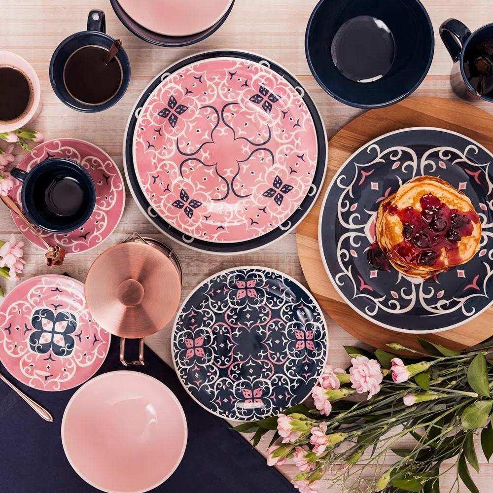Aparelho De Jantar 30 Peças Floreal Hana Oxford