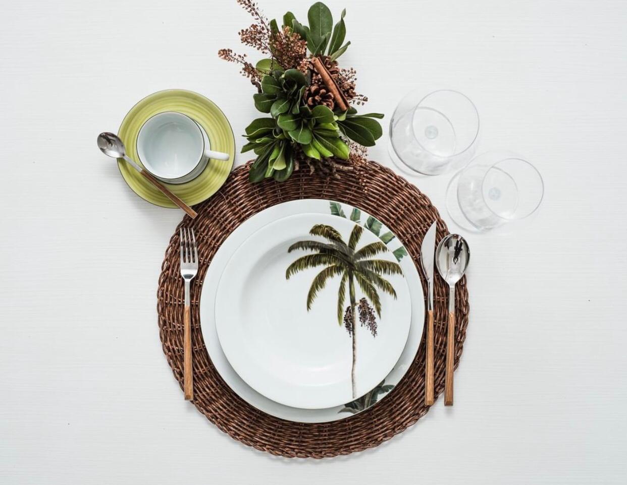 Aparelho De Jantar 30 Peças Palmeiras Schmidt