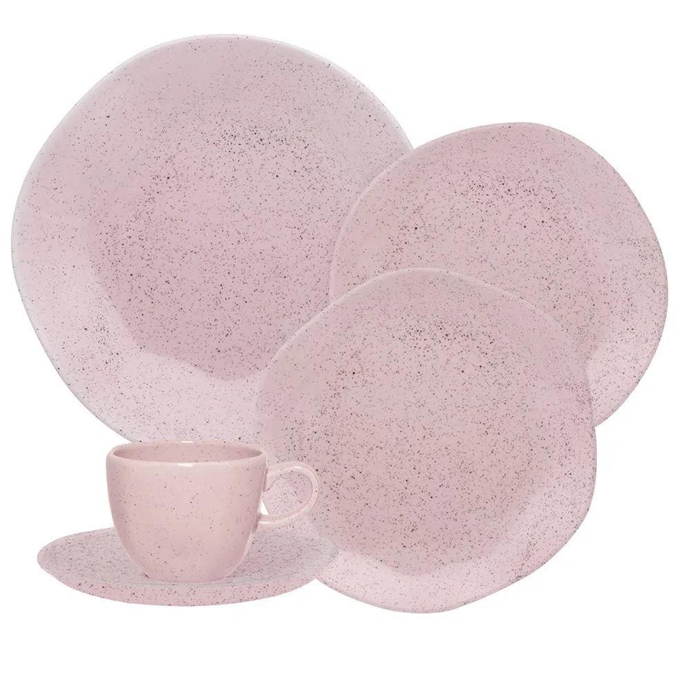 Aparelho de Jantar 30 Peças Pink Sand Oxford