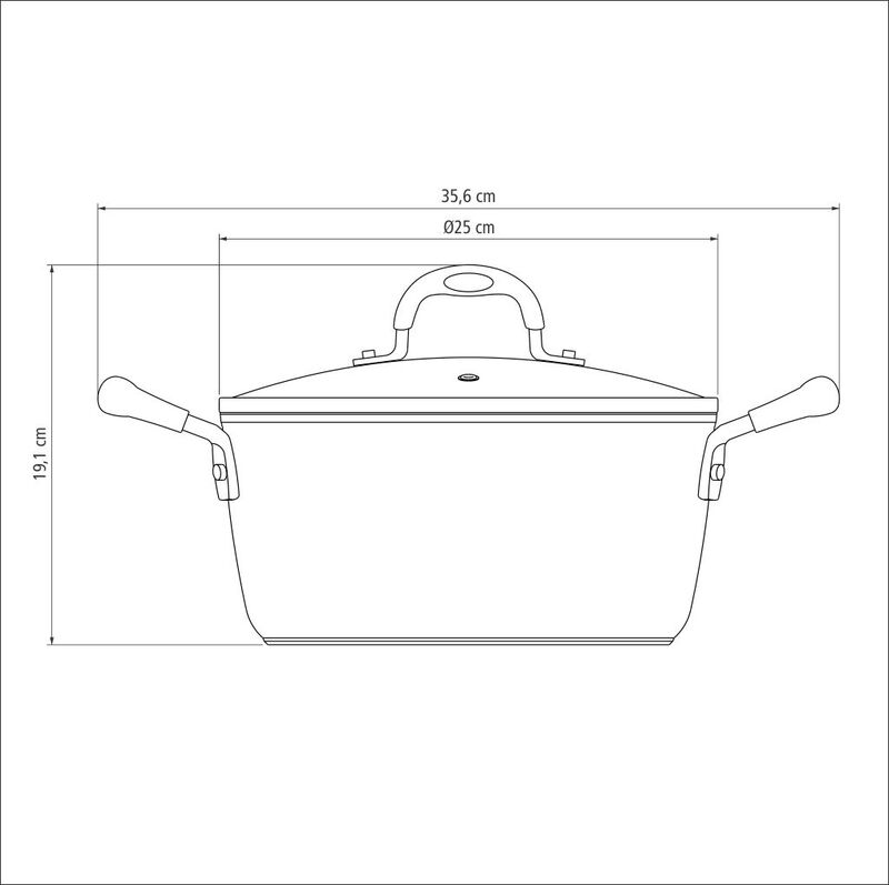 Caçarola Mônaco Induction Preta 24 cm 4,5 L em Alumínio com Revestimento Interno Antiaderente e Alças em Silicone Tramontina 28705/024
