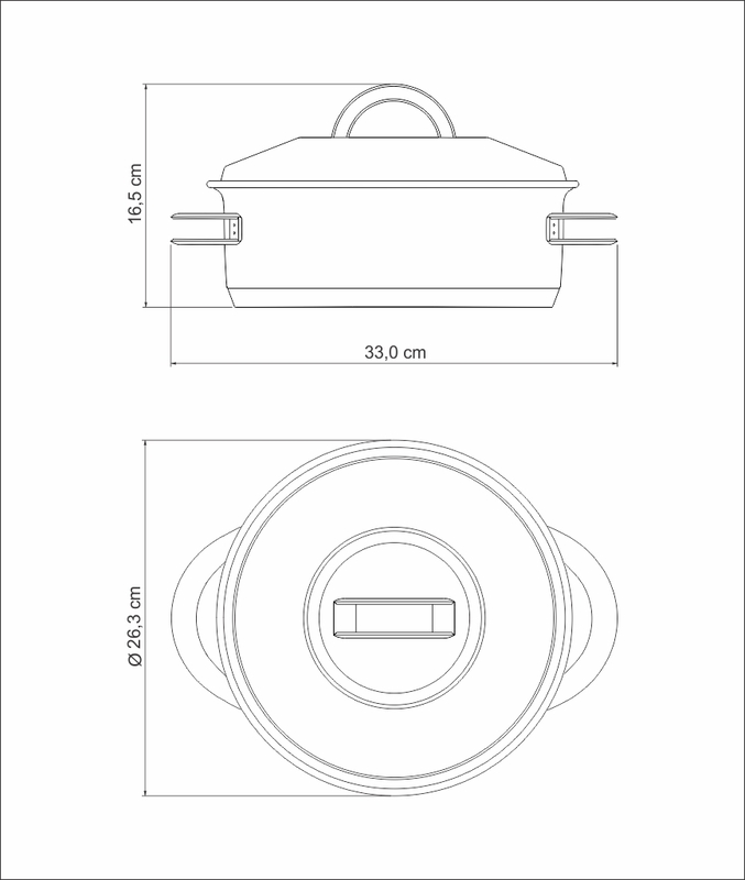 Caçarola Solar Rasa 24 cm 4,7 L em Aço Inox Fundo Triplo Tramontina 62503/240