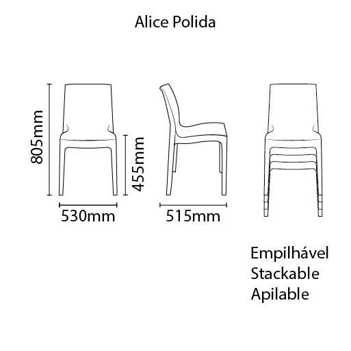Cadeira Alice Pérola Esmeralda Tramontina 92037/012