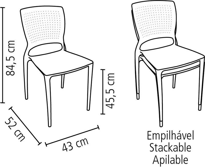 Cadeira Safira Vermelha Tramontina 92048/040