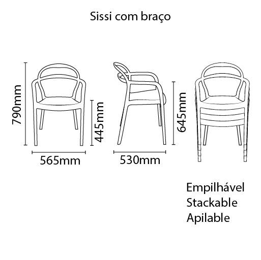 Cadeira Sissi Grafite Tramontina 92045/007