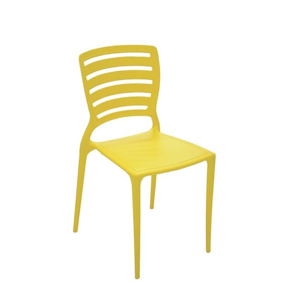 Cadeira Sofia Amarela Tramontina Encosto Vazado Horizontal 92237/000