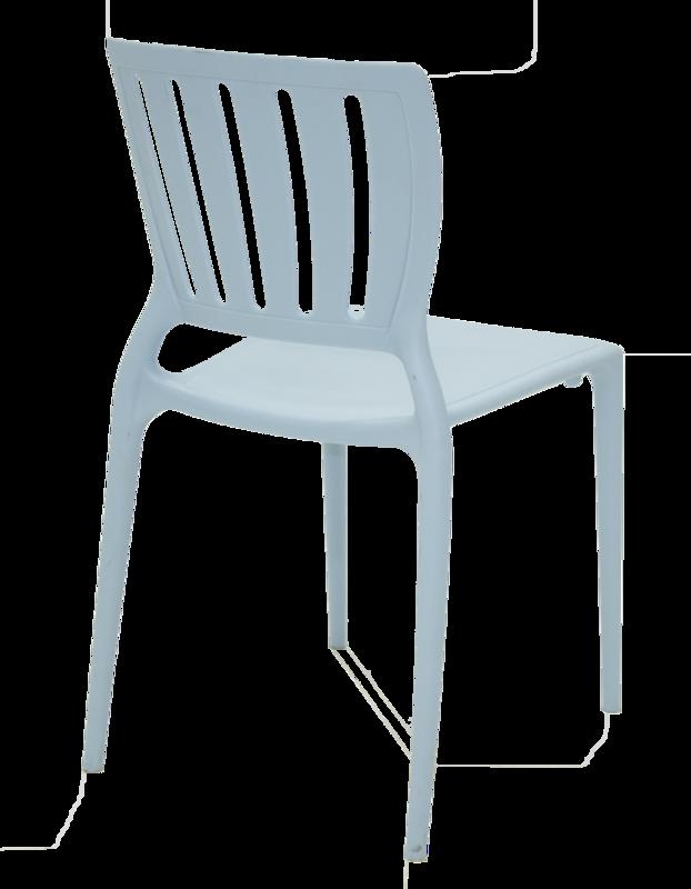 Cadeira Sofia Azul Tramontina Encosto Vazado Vertical 92035/070