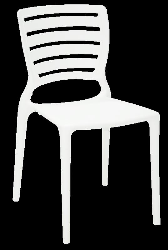 Cadeira Sofia Branca Tramontina Encosto Vazado Horizontal 92237/010