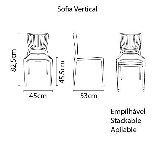 Cadeira Sofia Camurça Tramontina Encosto Vazado Vertical 92035/210