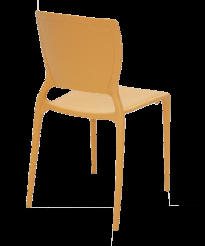 Cadeira Sofia Encosto Fechado Laranja 92236/090 Tramontina