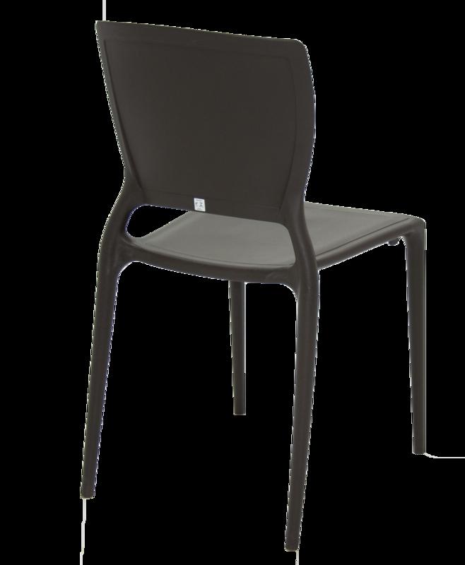 Cadeira Sofia Encosto Fechado Marrom 92236/109 Tramontina