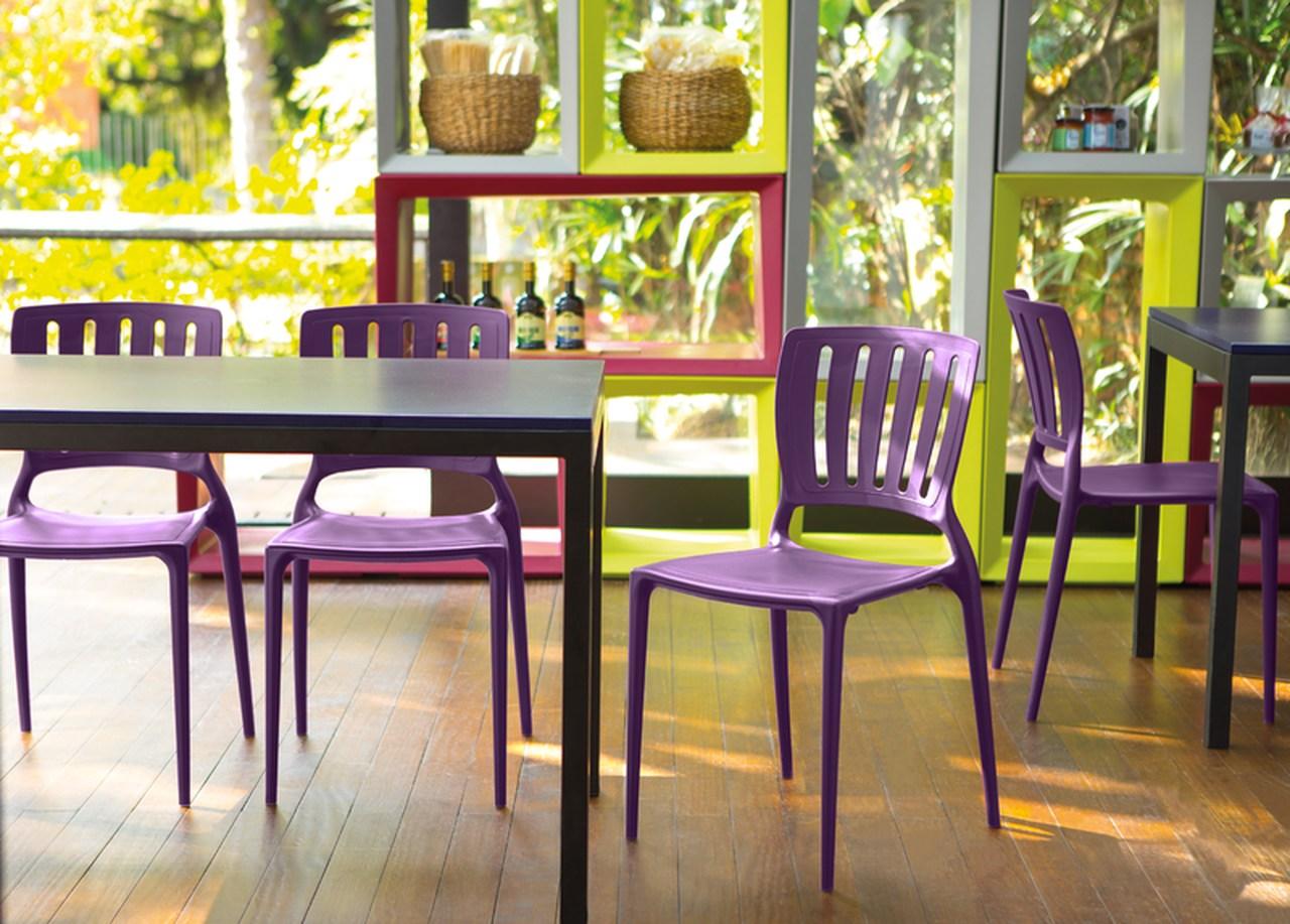 Cadeira Sofia Encosto Vazado Lilás Tramontina 92035/080