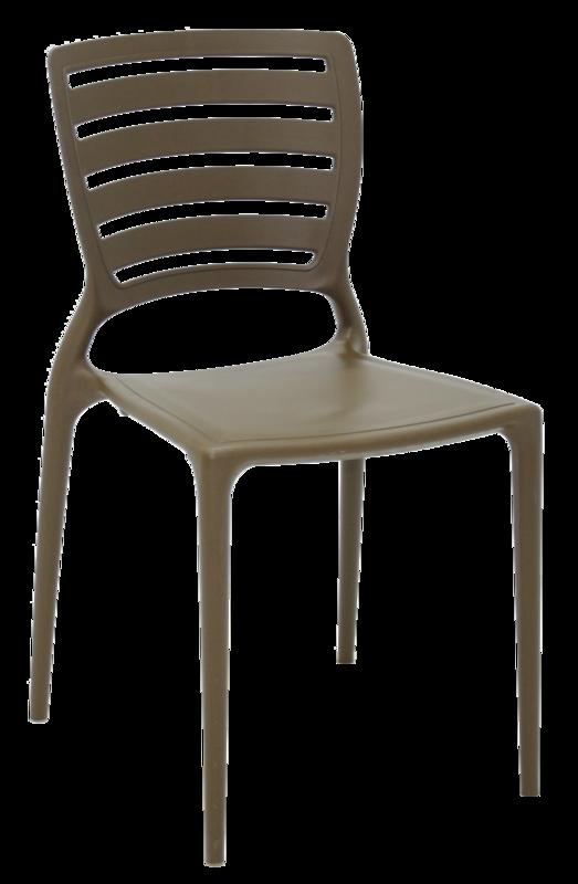 Cadeira Sofia Marrom Claro Tramontina Encosto Vazado Horizontal 92237107
