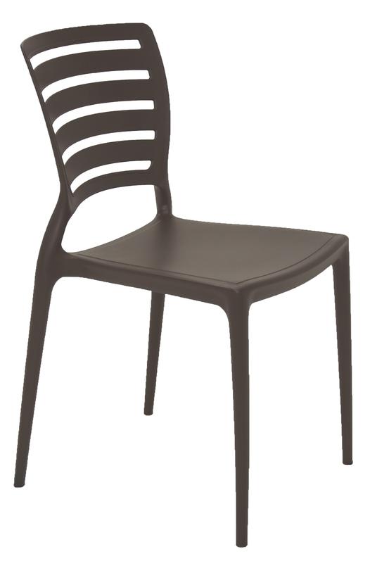 Cadeira Sofia Marrom Tramontina Encosto Vazado Horizontal 92237/109
