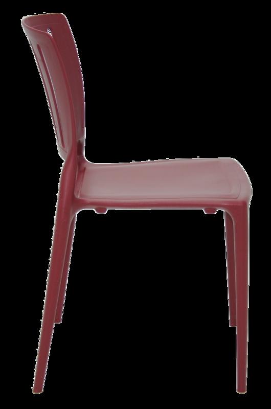 Cadeira Sofia Marsala Tramontina Encosto Vazado Vertical 92035/050