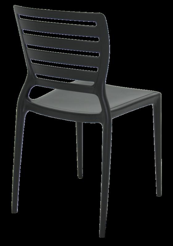 Cadeira Sofia Preta Tramontina Encosto Vazado Horizontal 92237/009