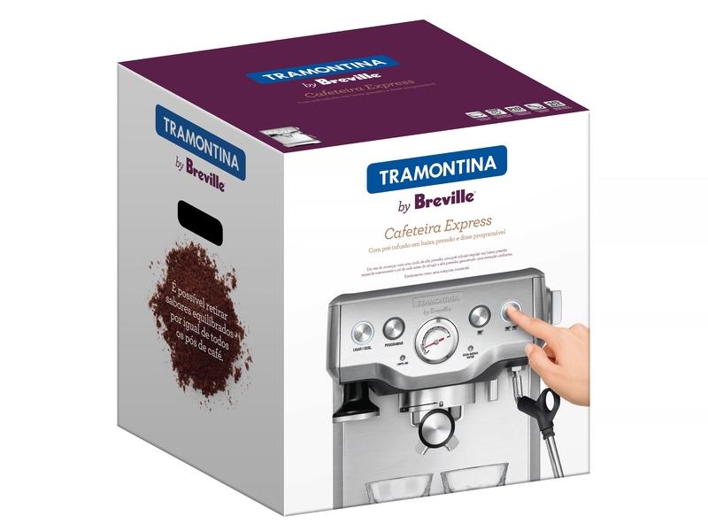 Cafeteira Elétrica Express em Aço Inox 1,8 L 220 V Tramontina by Breville 69065/012