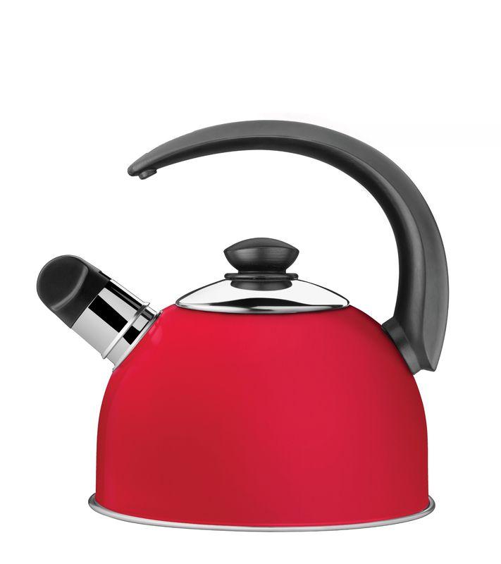 Chaleira com Apito Vermelha 2,1 L em Aço Inox Tramontina 61483/063