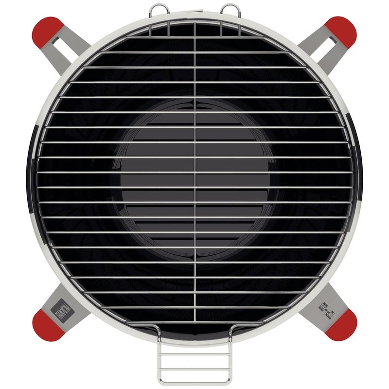 Churrasqueira à Carvão TCP 400 em Aço Inox com Bandeja para Carvão em Aço Esmaltado Tramontina 26500/006