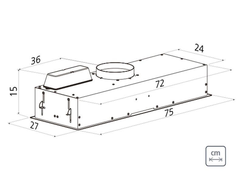 Coifa de Embutir 75 cm  Aço Inox Incasso 220 V Tramontina 95800/025