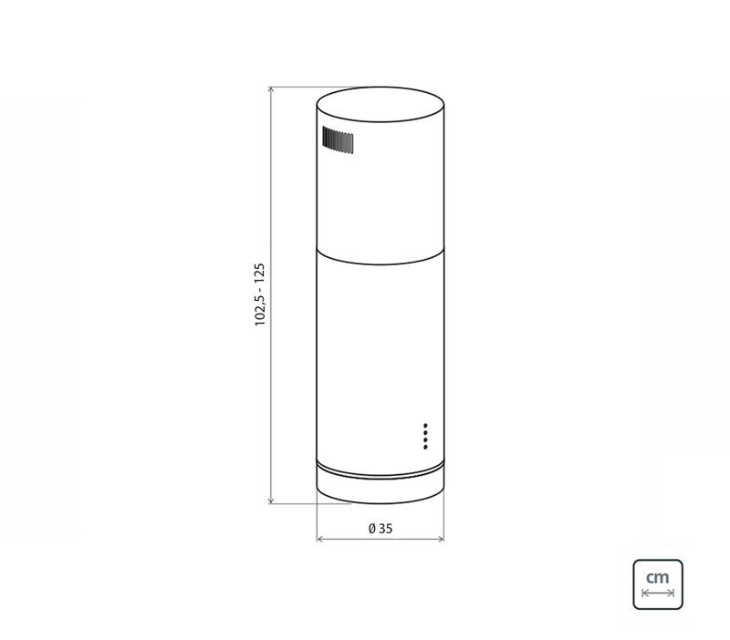 Coifa de Ilha 35 cm Aço Inox Tube Isla 220V Tramontina 94833/220