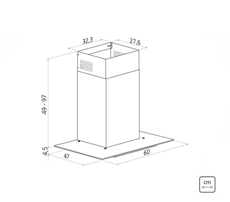 Coifa de Parede 60 cm Aço Inox Basic 220 V Tramontina 94811/002