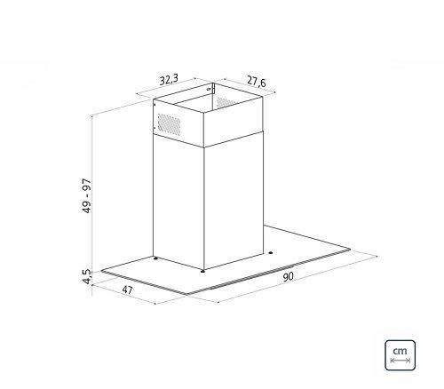 Coifa de Parede 90 cm Aço Inox Basic 127 V Tramontina 94811/005