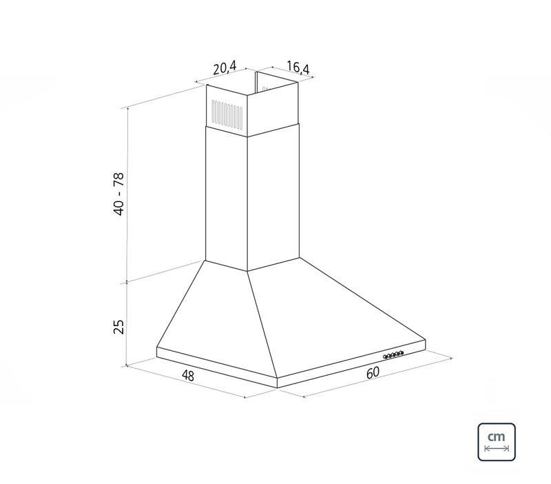 Coifa de Parede 60 cm Aço Inox Pirâmide 127 V Tramontina 94813/001