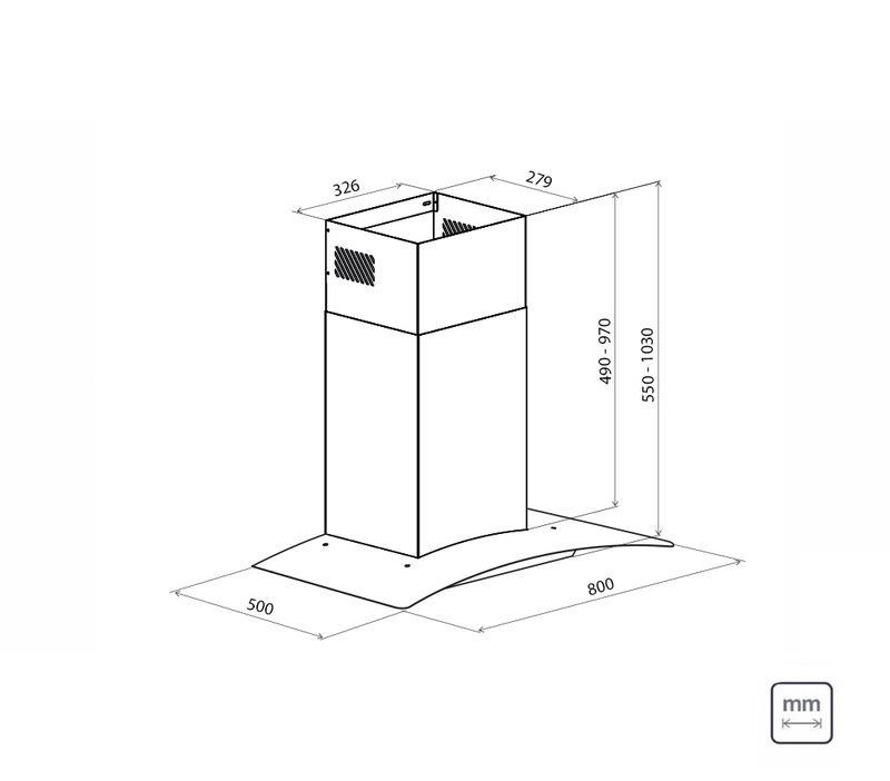 Coifa de Parede 80 cm Aço Inox New Vetro 127 V Tramontina 95800/011