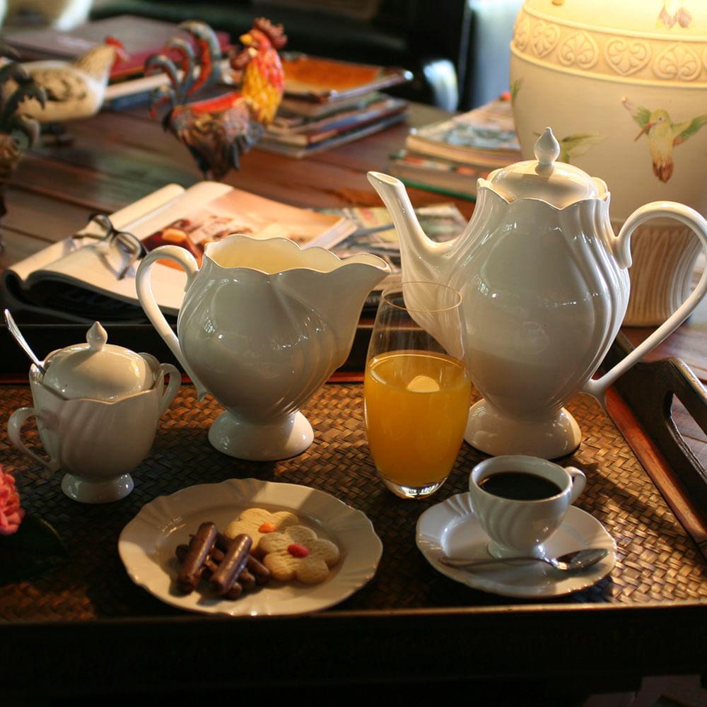 Conjunto Cafezinho 14 Peças Soleil White Oxford
