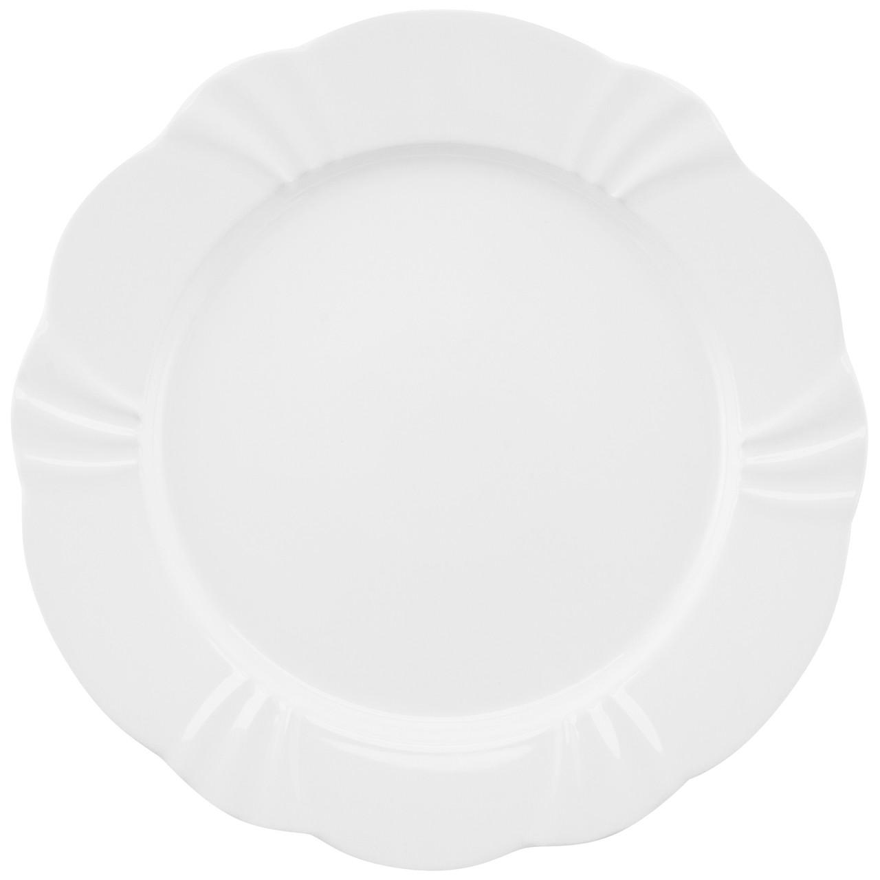 Conjunto de Pratos de Sobremesa 06 Peças Soleil White Oxford