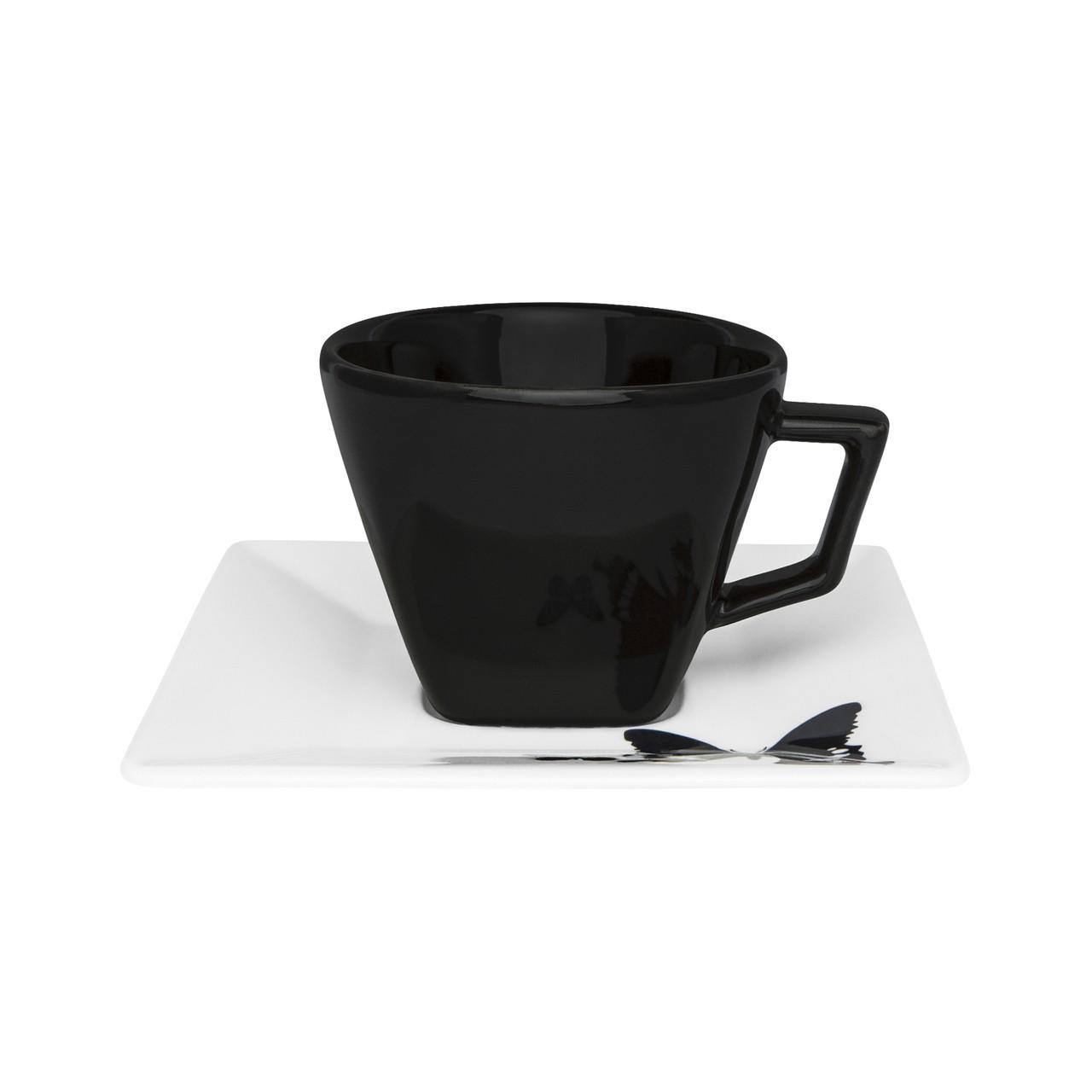 Conjunto de Xícara de Chá com Pires 06 Peças Quartier Tatto Oxford