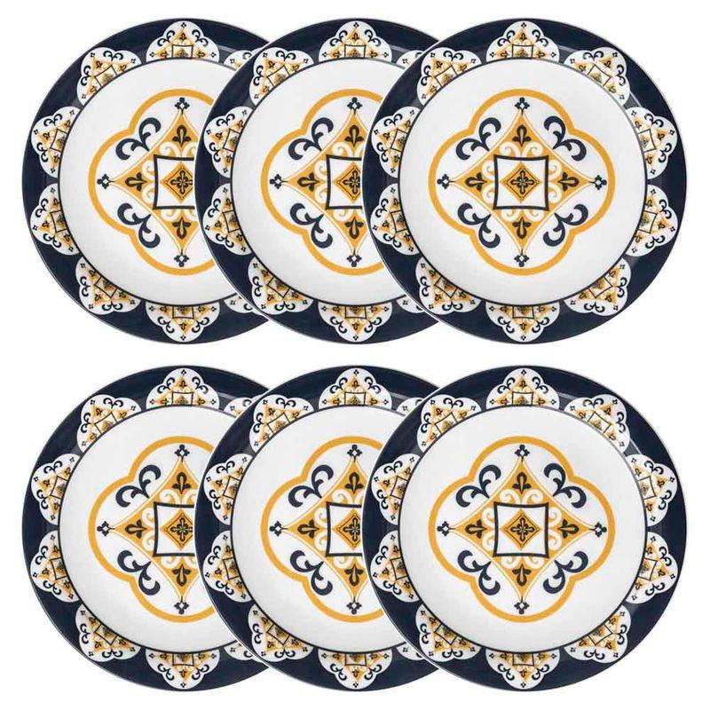 Conjunto de Pratos Rasos 06 Peças São Luís Oxford