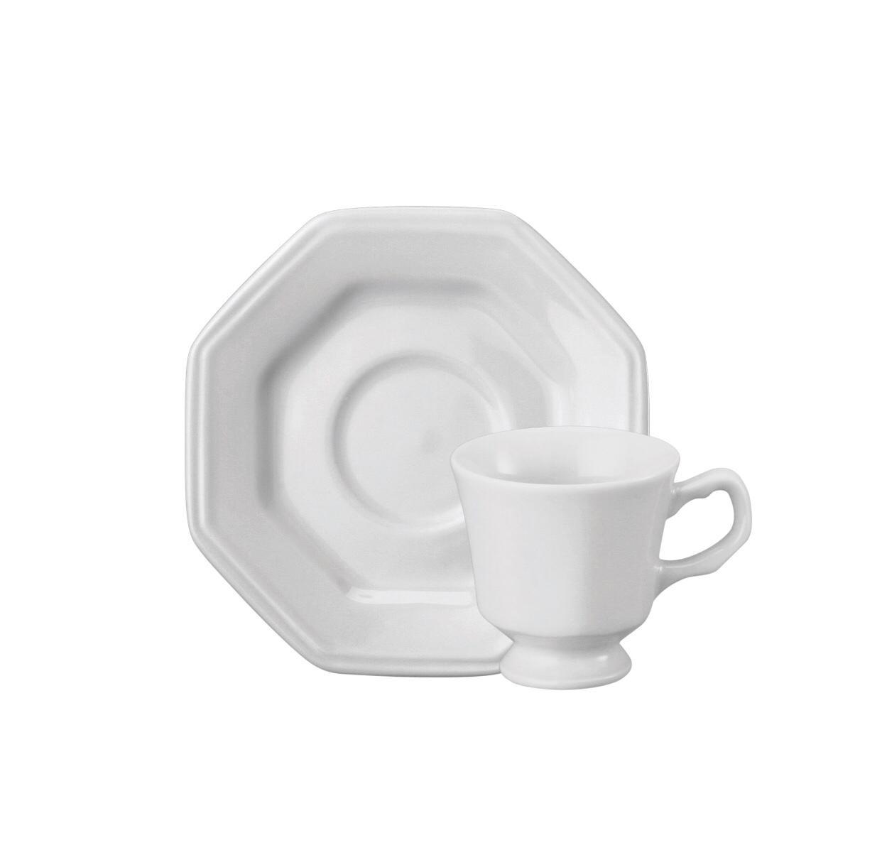 Conjunto de Xícara de Café com Pires 06 Peças Prisma Schmidt
