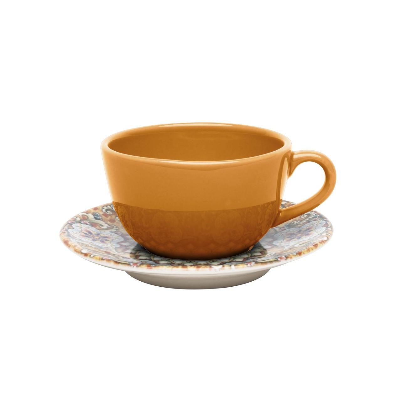 Conjunto de Xicara de Chá com Pires 06 Peças Castello Oxford