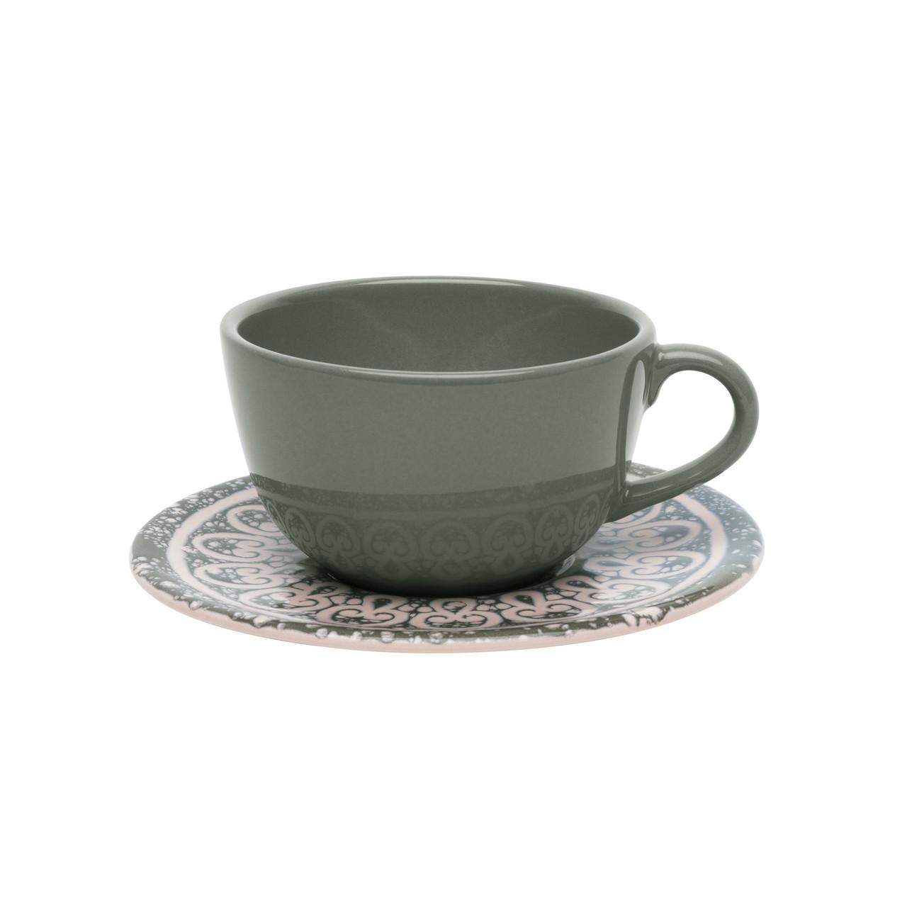 Conjunto de Xícara de Chá com Pires 06 Peças Elo Oxford