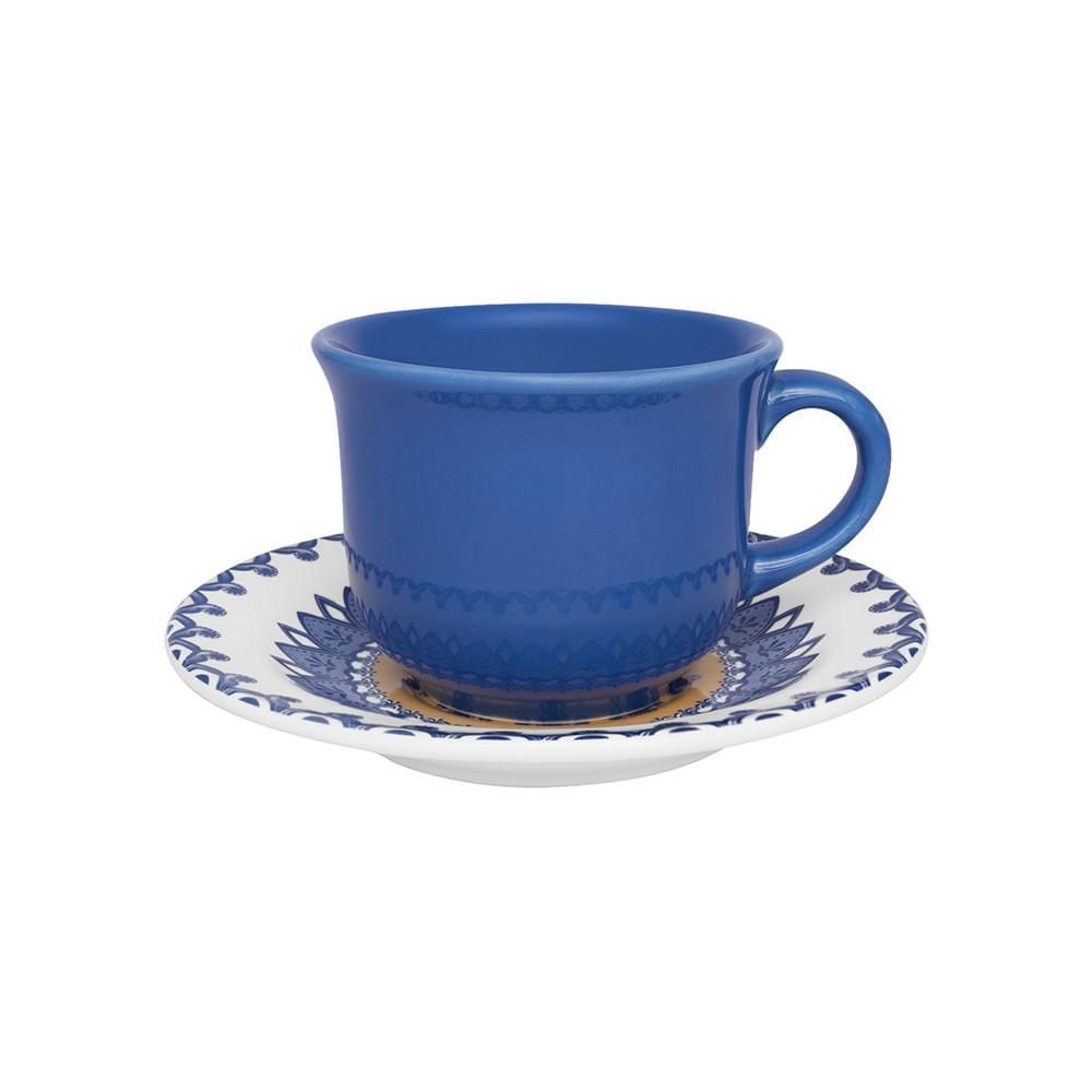 Conjunto de Xícara de Chá com Pires 06 Peças La Carreta Oxford