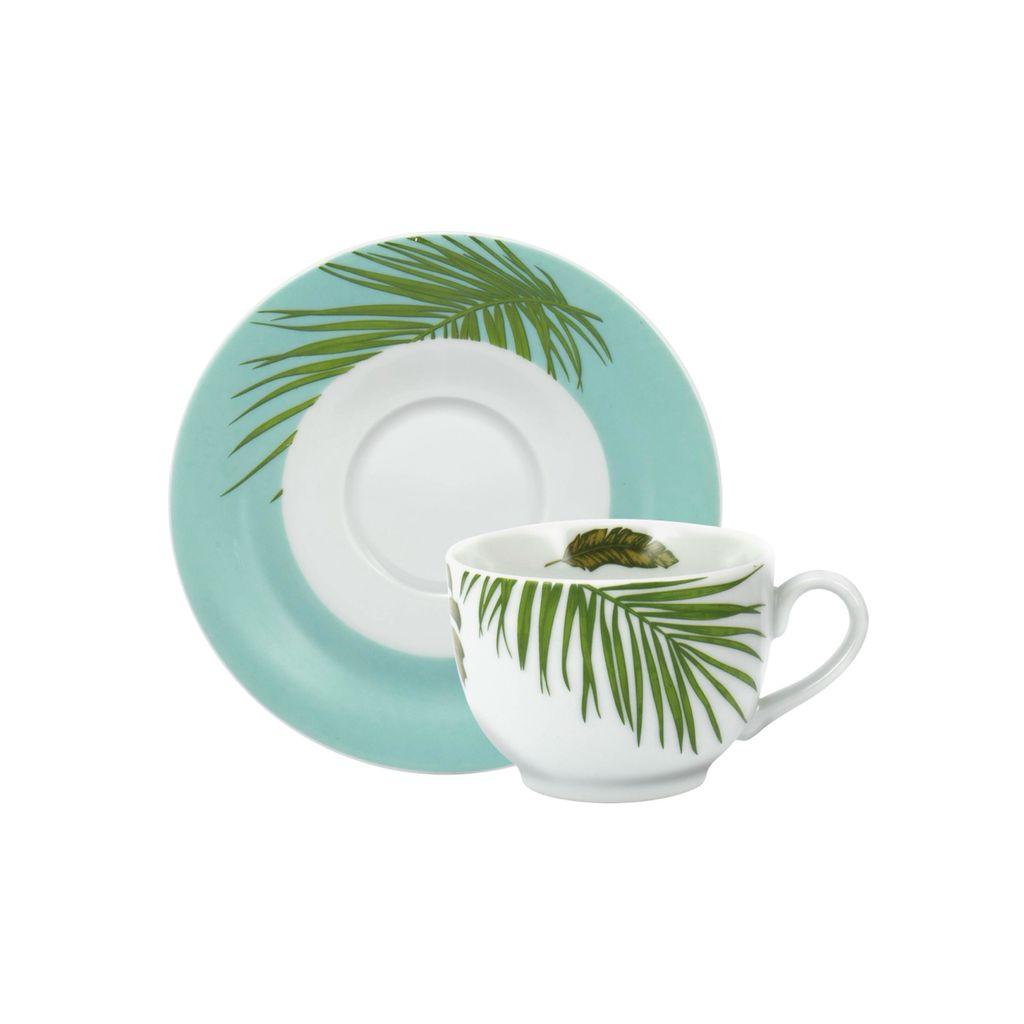 Conjunto de Xícara de Chá com Pires 06 Peças Patrícia Schmidt