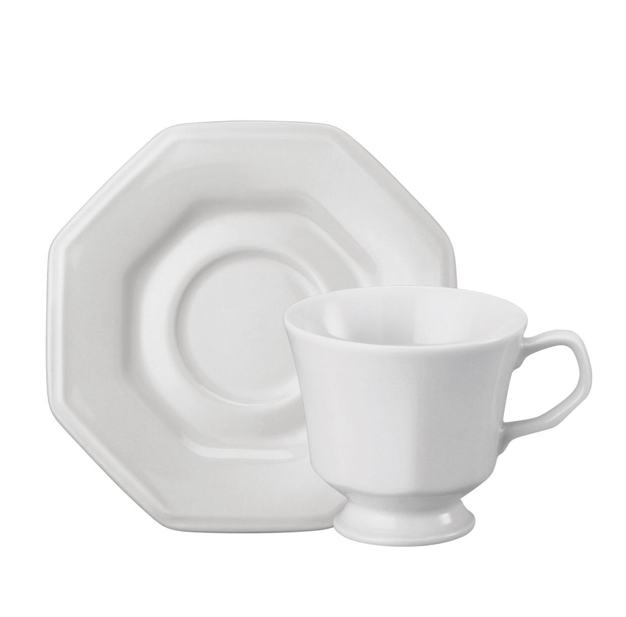 Conjunto de Xícara de Chá com Pires 06 Peças Prisma Schmidt