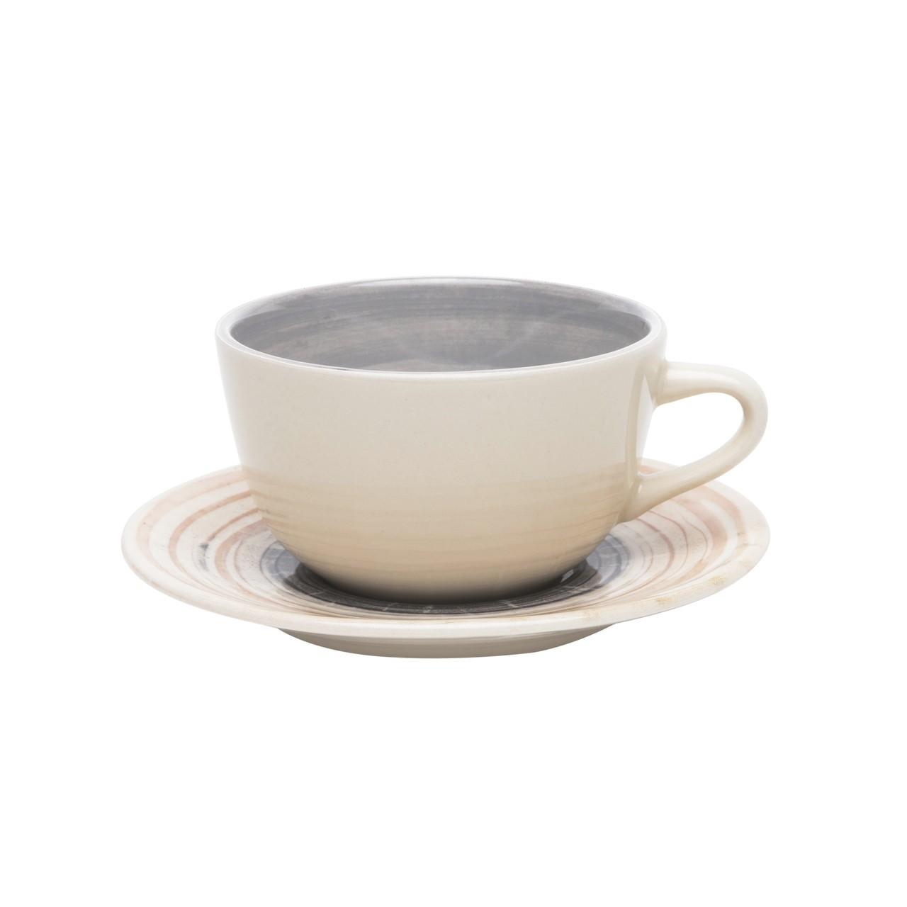 Conjunto de Xicara de Chá com Pires 06 Peças Puzzling Oxford